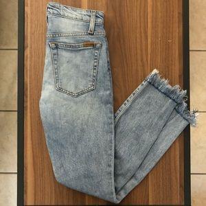 Joe's jeans Charlie high rise fray hem skinny